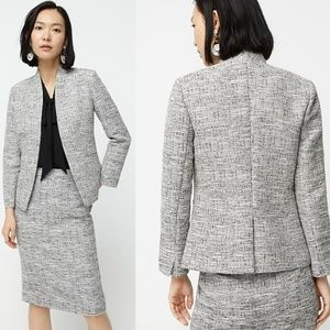 J. Crew Going-out Blazer in Black and White Tweed